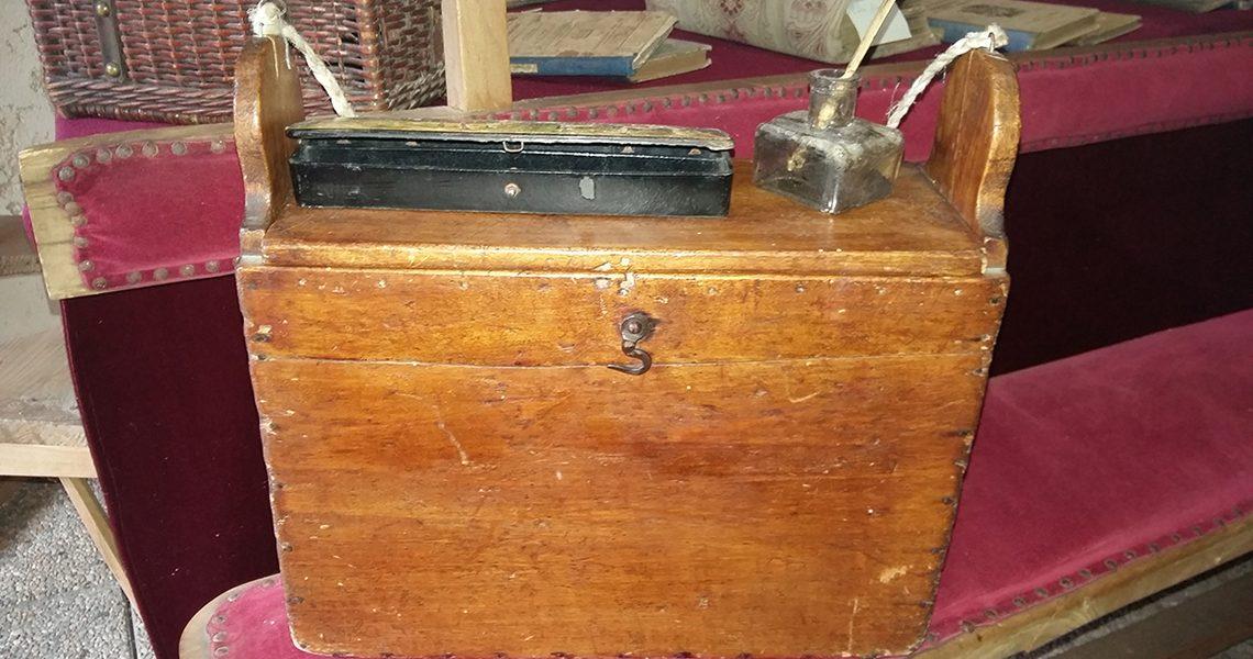 Cartable en bois 19e et début du 20e siècle